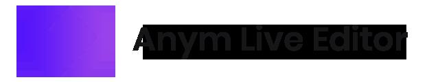 Anym Live Editor